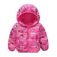 """Детская демисезонная куртка для девочки 2 — 5 лет """"Париж розовая"""""""