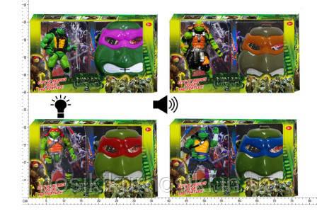 Игровой набор маска (свет, звук) Черепашки ниндзя плюс фигурка