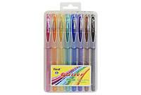 Набор гелевых ручек, блеск и запах, 8 цветов, пластиковый футляр, F919-8