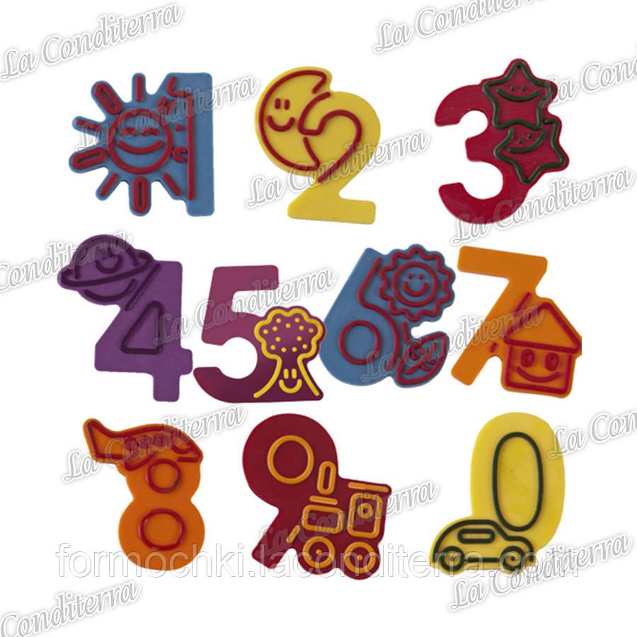 Пластикова форма для шоколадного декору MARTELLATO 20-C023 Цифри
