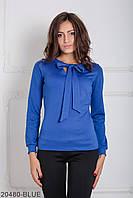 (S / 44) Жіноча синя трикотажна блузка Glem Розпродаж