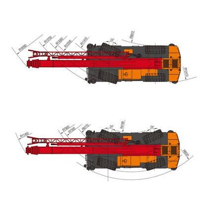Короткобазовый кран Palfinger Sany SRC 750  г/п 75 т, фото 2