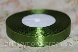Атласная лента 1,2 см, темно-зеленая (1,2-108Л)