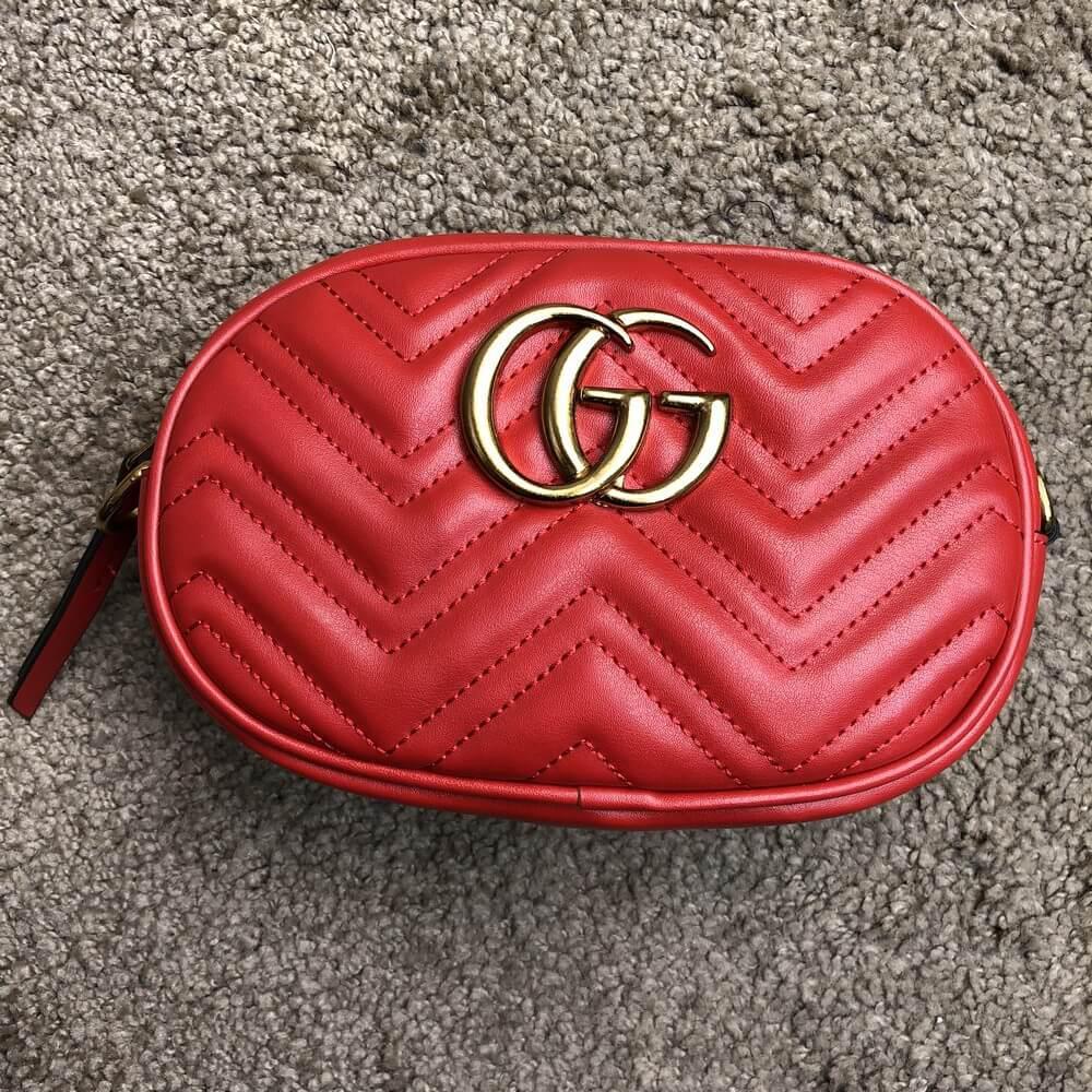 5c5442a40d9b Сумка Gucci Belt Bag GG Marmont Red (Красная) - Интернет-магазин обуви и