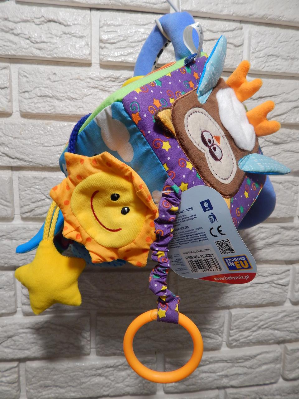 "Развивающий мягкий куб Biba Toys "" Веселый зоопарк"""