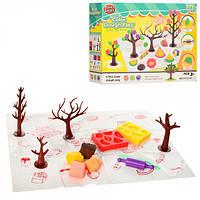 Пластилин Набор для детской лепки (детского творчества)4 цвета (в стиках), аром, формочки, инструменты