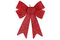 Новогодний декор Бант 25см цвет - красный (134-707)