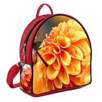Красные городские рюкзаки с принтом Цветок