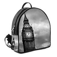 Черный городской рюкзак женский с принтом Биг-Бен