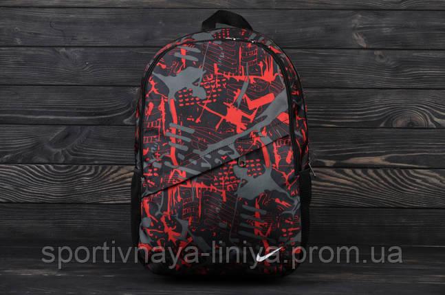 Спортивный красный рюкзак Nike принт fire (реплика), фото 2
