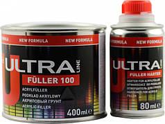 Акриловый грунт 5+1 FÜLLER 100  Чорний 0,4л. + отвердитель