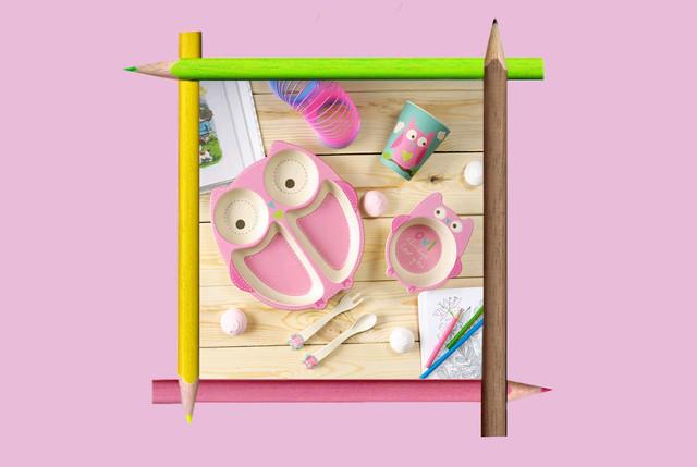 Дитяча бамбукова посуд