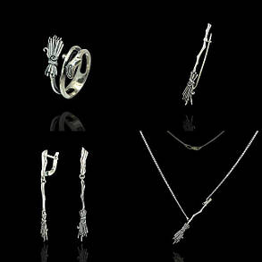 Серебряное кольцо Метла, фото 2