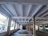 Пескоструйная обработка бетонного потолка