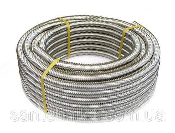 20 Металорукав гофрированный из нержавеющей стали DISPIPE 20GF-C (W), для кабельканала с протяжкой, фото 2