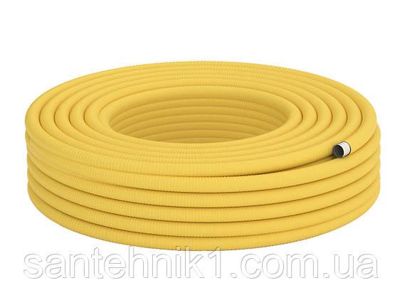 20 Труба гофрированная для газа из нержавеющей стали DISPIPE 20HFPY, отожженная в желтой оболочке, фото 2