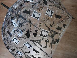 Зонт зонтик трость, полуавтомат Париж
