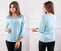 Новинка! Блузка женская, модель 793/2, голубая, фото 1