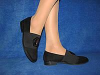 Классические женские черные туфли на небольшом каблуке 39 р 25,0 см