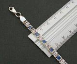 """Срібний браслет Арабська Бісмарк """"з камінням, 17 см, 10 гр., фото 3"""