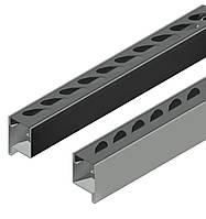 Профиль створки с отверстиями для овальных ламелей 44*18,идет в паре правый и левый длина 2,5 м.