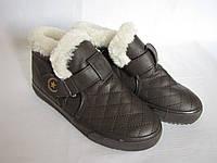Полуботинки зимние размер 36 коричневые 09008, фото 1