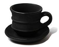 Гаварецкая глиняная чашка для кофе 100 мл., черная керамика