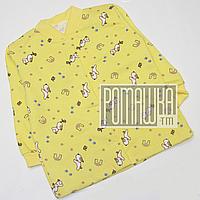 Детская кофточка р. 80-86 с начесом демисезонная ткань ФУТЕР 100% хлопок ТМ Алекс 1664 Желтый А 86, фото 1