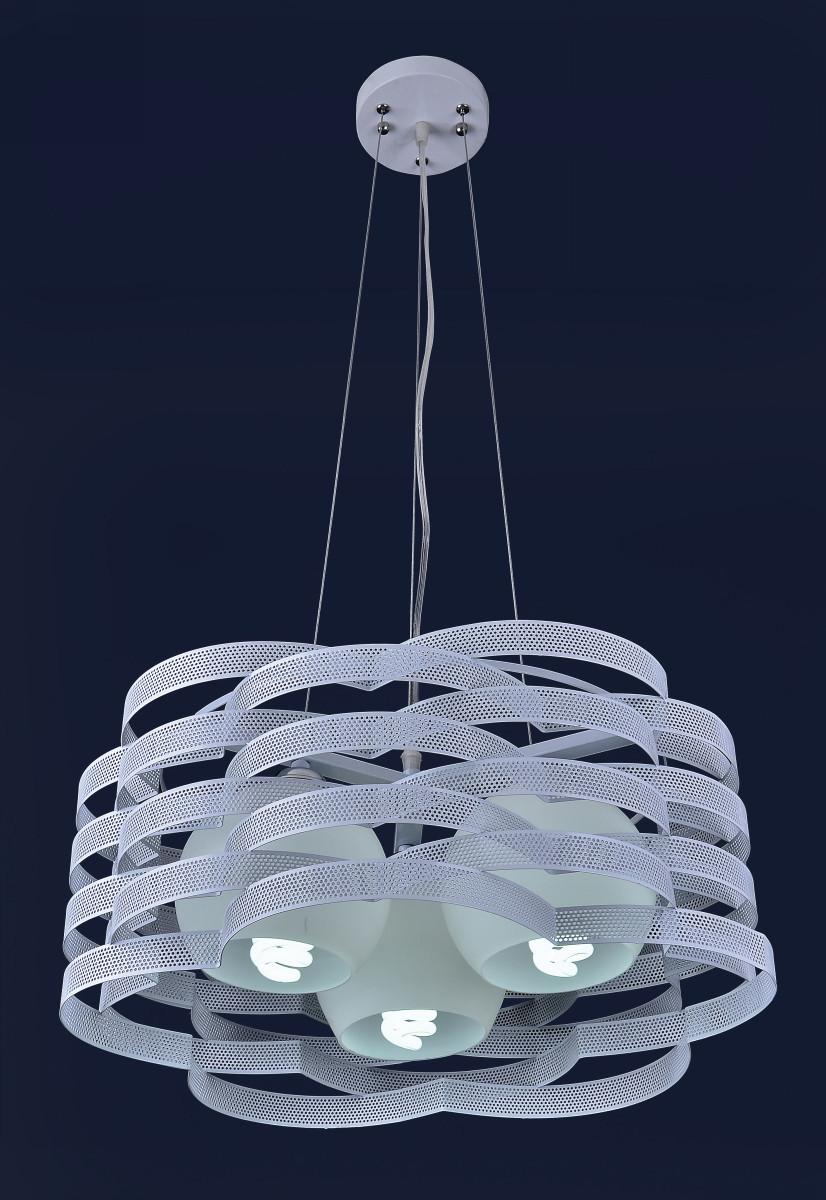 Красивая подвесная люстра на три лампы с регулируемой высотой 7076207-3 БЕЛЫЙ