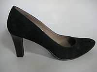 Замшевые женские туфли зеленого цвета ТМ Камея