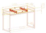 Стол-парта Металл-Дизайн Ромбо Лофт 1100х760х550 мм, фото 2