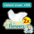 Детские влажные салфетки Pampers Natural Clean, 128 шт, фото 2