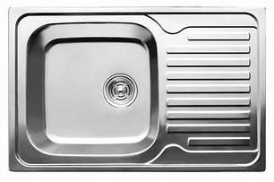 7203 Мойка CRISTAL прямоугольная с полкой, врезная 780x500x180 Decor, фото 2