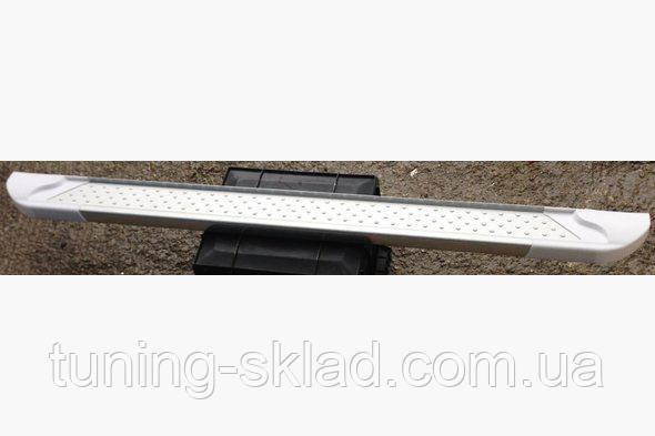 Силовые пороги Fiat Fiorino III (вариант Allmond White)