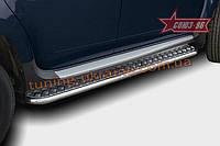 Пороги с листом d42 Союз 96 на Nissan Terrano 2014