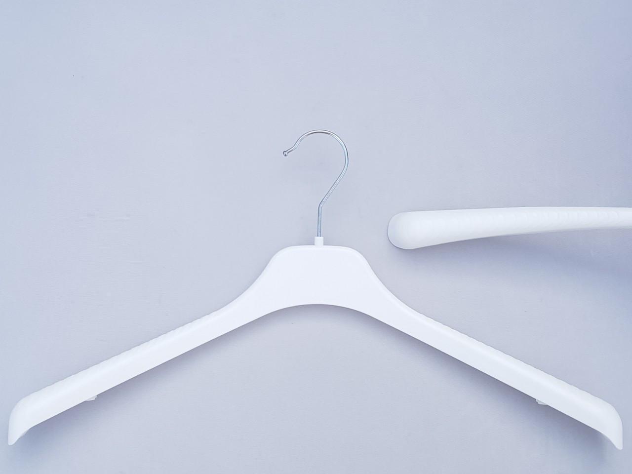 Длина 46 см. Плечики вешалки пластмассовые V-T46 белого цвета