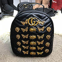 Рюкзак Gucci Backpack GG Marmont Animal Studs Black (Черный)