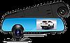 Відеореєстратор дзеркало з камерою заднього виду 2 камери DVR Full HD (екран праворуч від водія!)