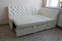 Кухонный уголок со спальным местом в белом кожзаме, фото 1