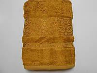 Полотенце бамбуковое лицевое золотое 50х90, Премиум