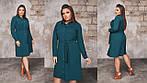 Женское платье до колена ткань: трикотаж- вельвет, фото 6