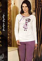 """Женская пижама Mel Bee (Sahinler) MBP 21873 """"Девочка"""", костюм домашний с брюками"""