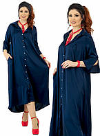 Платье рубашка длинное в расцветках  25322, фото 1