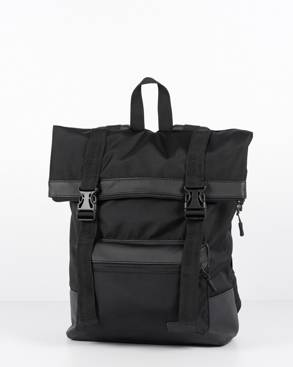 9fdabc0f9ecf Городской рюкзак черный роллтоп Roll black HARVEST (мужской рюкзак, женский  рюкзак, для города