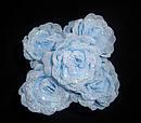 Голубая розочка d 4 см на шпильке, фото 2