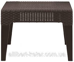 Зручна підставка для ніг з подушкою або невеличкий столик COLUMBIA STOOL темно-коричневий (Keter)