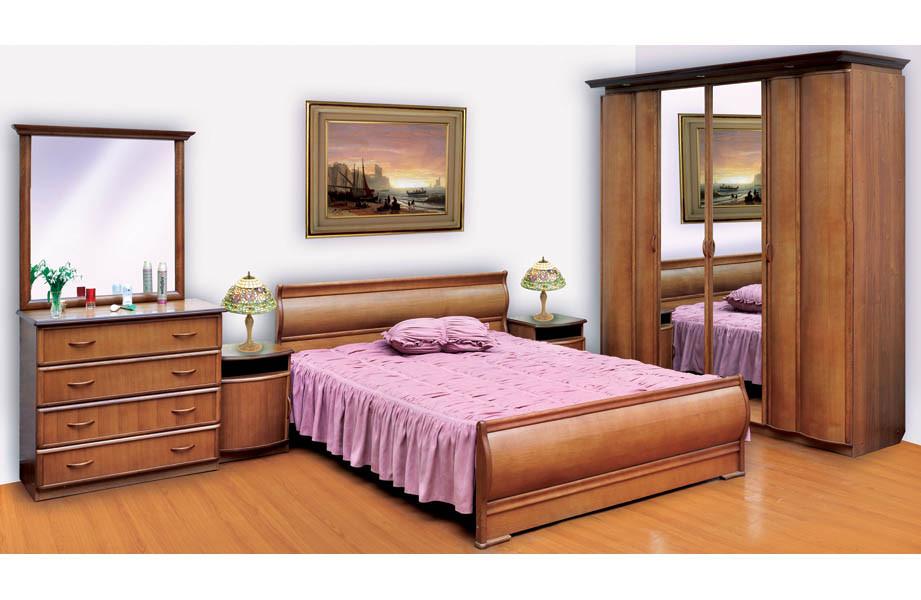 Кровать ЭЛИТА-1 (орех)