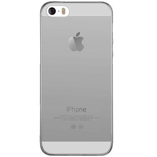 силиконовый чехол на Iphone 55sse прозрачный серый в категории