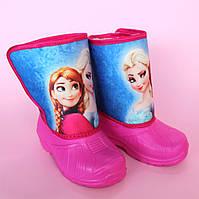 Детские сапожки дутики на девочку на меху Vitaliya, недорогая детская зимняя обувь р.25-26
