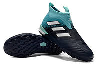 Футбольные сороконожки adidas ACE Tango 17+ Purecontrol TF Energy Aqua/White/Legend Ink, фото 1